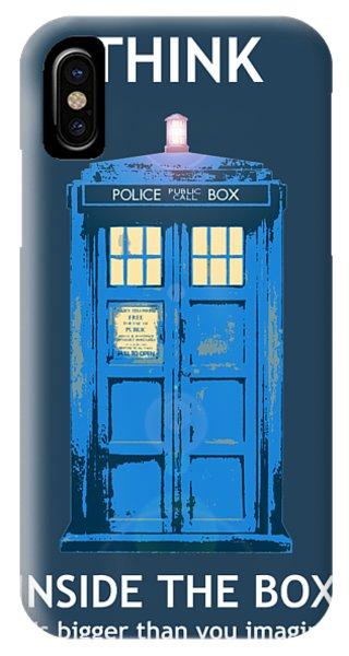 Tardis - Think Inside The Box IPhone Case