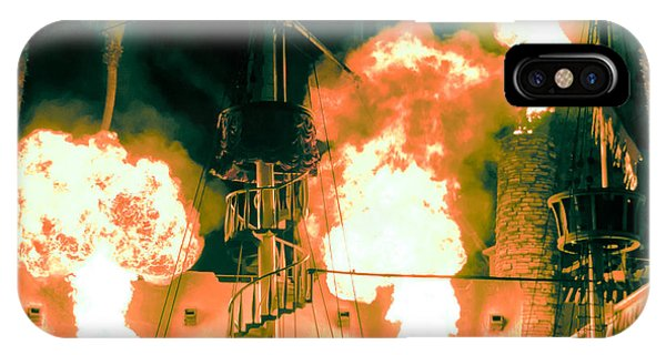 Target In Flames IPhone Case
