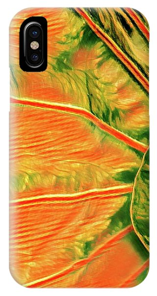 Taro Leaf In Orange - The Other Side IPhone Case