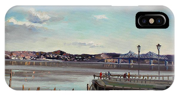 Hudson River iPhone Case - Tarrytown View by Ylli Haruni