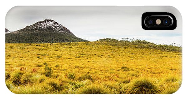 Stone Wall iPhone Case - Tasmania Mountains Of The East-west Great Divide  by Jorgo Photography - Wall Art Gallery