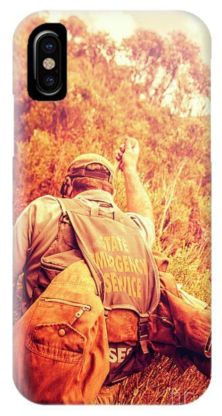 Discovery iPhone Case - Tasmania Search And Rescue Ses Volunteer  by Jorgo Photography - Wall Art Gallery