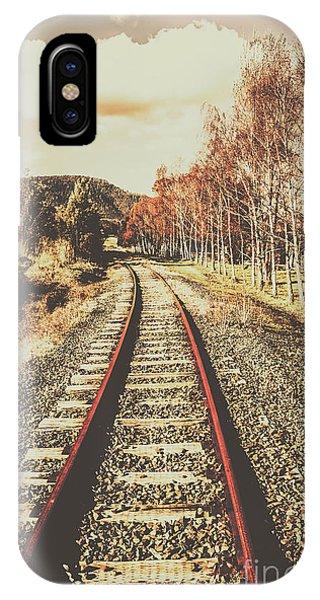 Train Tracks iPhone Case - Tasmanian Country Tracks by Jorgo Photography - Wall Art Gallery