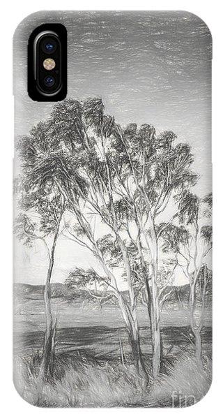 Shrub iPhone Case - Tasmanian Countryside Illustration by Jorgo Photography - Wall Art Gallery