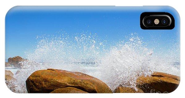 Crash iPhone X Case - Tasmanian Ocean Spray by Jorgo Photography - Wall Art Gallery