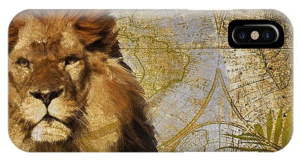 Wild Life iPhone Case - Taste Of Africa Lion by Mindy Sommers