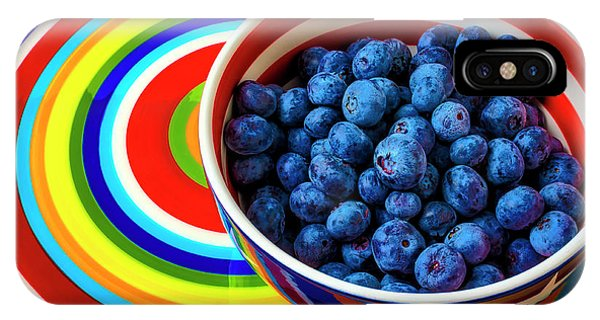 Blue Berry iPhone Case - Tasty Bowl Full Of Blueberries by Garry Gay