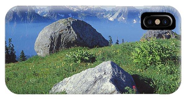 1m4862-tatoosh Range And Mt. St. Helens  IPhone Case