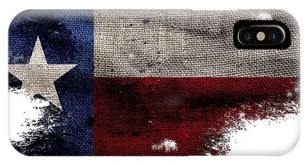 Tattered Lone Star Flag IPhone Case