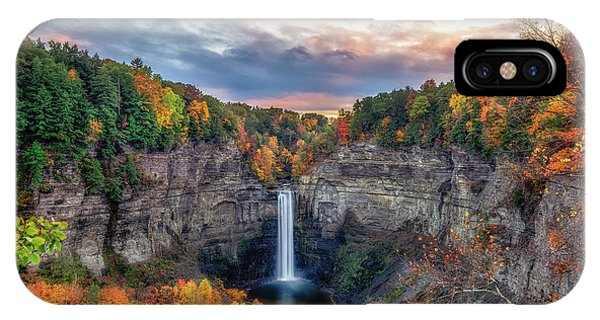 Taughannock Autumn Dusk IPhone Case