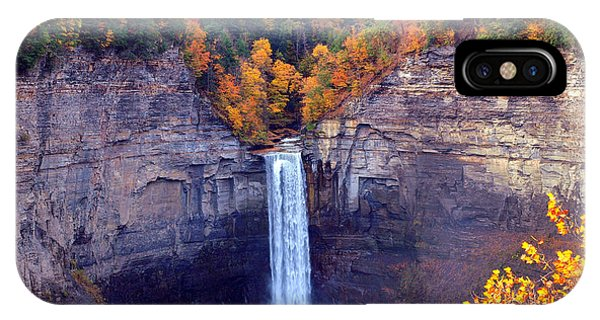 Taughannock Waterfalls In Autumn IPhone Case