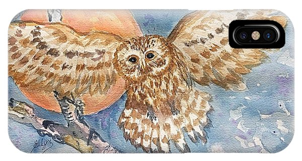 Tawny Owl And Hunters Moon  IPhone Case