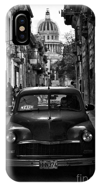 Taxi In Havana IPhone Case