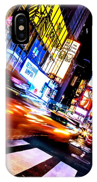 Times Square iPhone Case - Taxi Square by Az Jackson