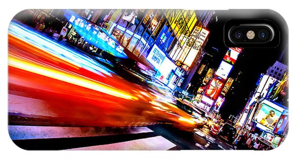 New York City Taxi iPhone Case - Taxis In Times Square by Az Jackson
