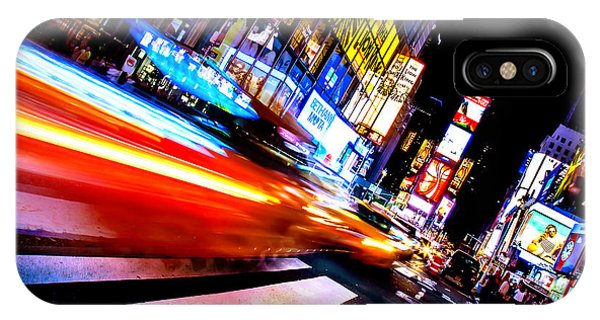 Times Square iPhone Case - Taxis In Times Square by Az Jackson