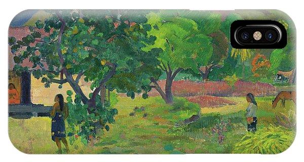 Fare iPhone Case - Te Fare  La Maison, 1892  by Paul Gauguin