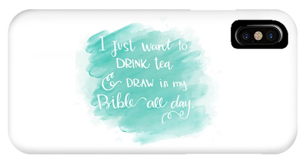 Tea And Draw IPhone Case