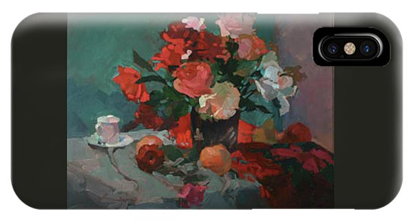 Tea And Peonies IPhone Case