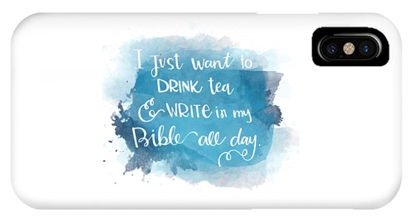 Tea And Write IPhone Case