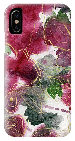 Winter iPhone Case - Tea Cup Roses- Art By Linda Woods by Linda Woods
