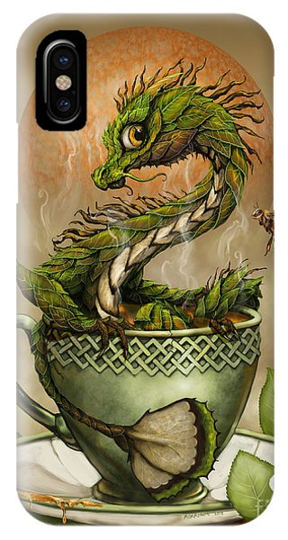 Dragon iPhone X Case - Tea Dragon by Stanley Morrison