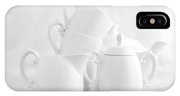 Kettles iPhone Case - Tea For Three In White by Tom Mc Nemar
