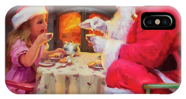 Reindeer iPhone Case - Tea For Two by Steve Henderson