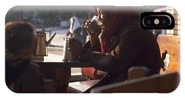 Michel Guntern iPhone Case - Tea In Tashkent by Travel Pics