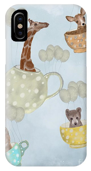 Hot Air Balloons iPhone Case - Tea Party by Bri Buckley