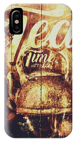 Container iPhone Case - Tea Time Tin Sign by Jorgo Photography - Wall Art Gallery