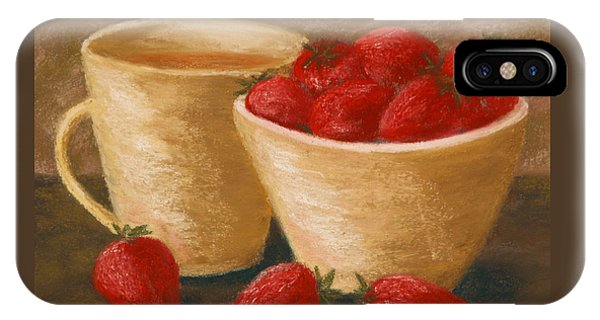 Tea With Strawberries IPhone Case