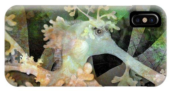 Teal Leafy Sea Dragon IPhone Case