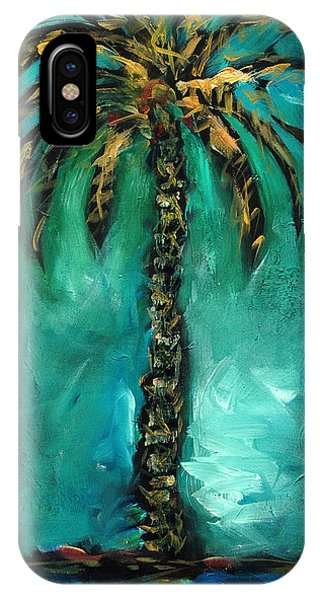Teal Palm IPhone Case