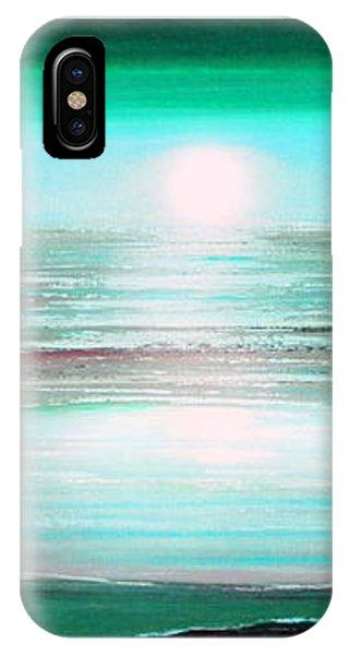 Teal Panoramic Sunset IPhone Case