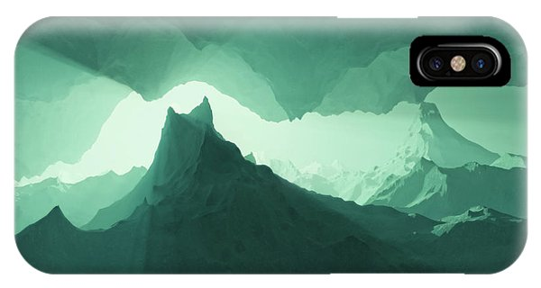 Teal Surreal IPhone Case