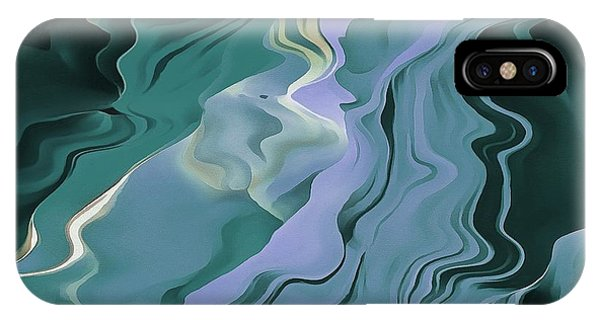 Teal Turbulence IPhone Case