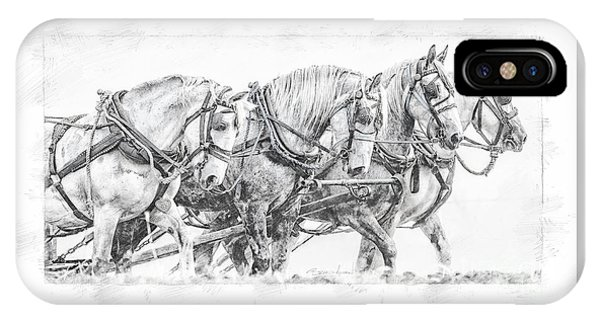 IPhone Case featuring the digital art Team Work by Brad Allen Fine Art