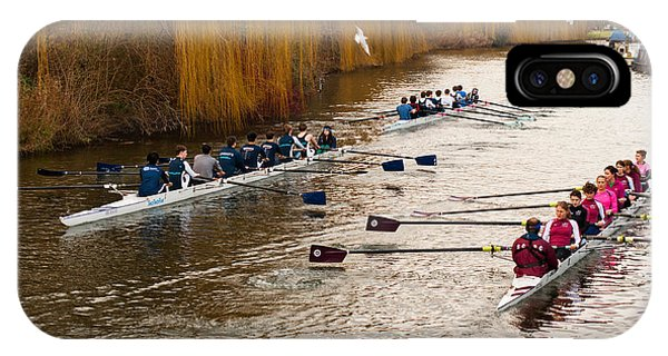 Teams Of Rowers On River Cam IPhone Case