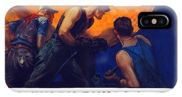 Wwi iPhone Case - Teamwork Builds Ships by War Is Hell Store