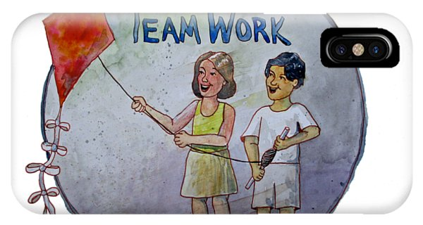 Teamwork IPhone Case