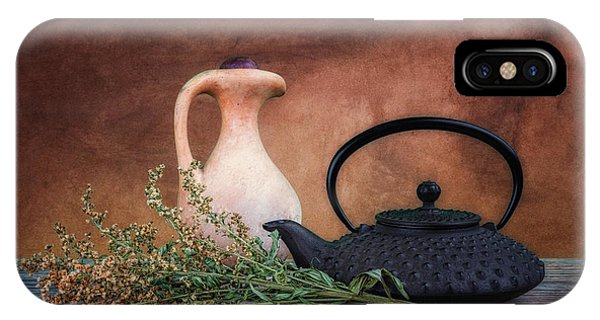 Kettles iPhone Case - Teapot With Pitcher Still Life by Tom Mc Nemar