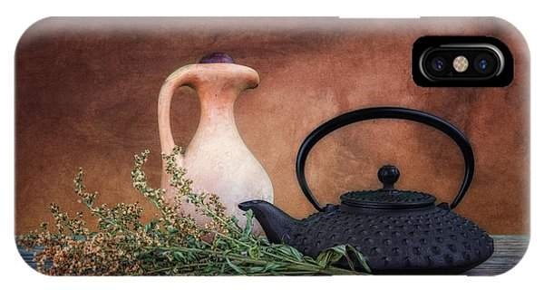 Teapot With Pitcher Still Life IPhone Case