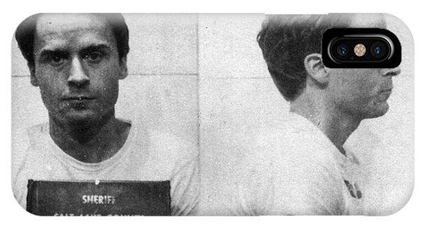 Ted Bundy Mug Shot 1975 Horizontal  IPhone Case