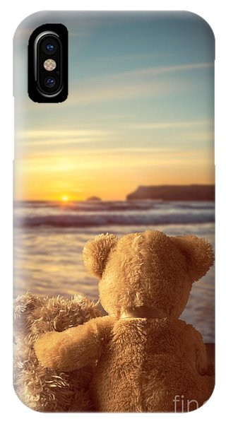 Sun Set iPhone Case - Teddies At Sunset by Amanda Elwell