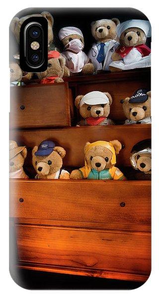 Having Fun iPhone Case - Teddies Having Fun 061 by Kevin Chippindall