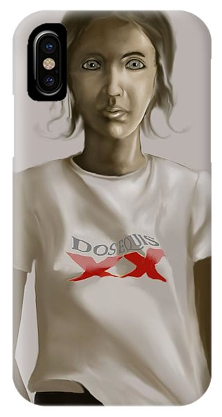 Tee Shirt Portrait IPhone Case