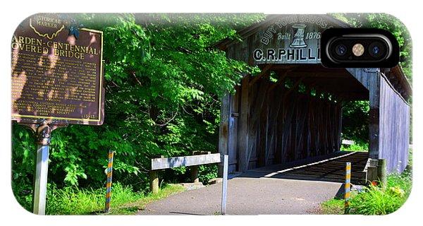 Centennial Bridge iPhone Case - Teegarden-centennial Covered Bridge by Lisa Wooten