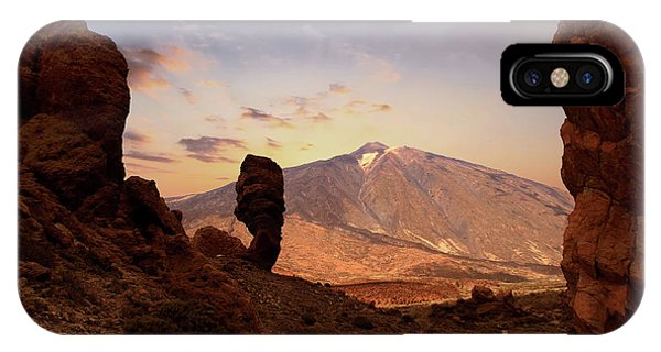 Canary iPhone Case - Teide - Tenerife by Cambion Art