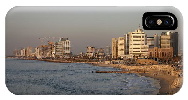 Tel Aviv Coast. IPhone Case